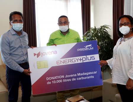 COVID-19: Malagasy Authority receives donation of 10,000 Liters of fuel from Jovena Madagascar